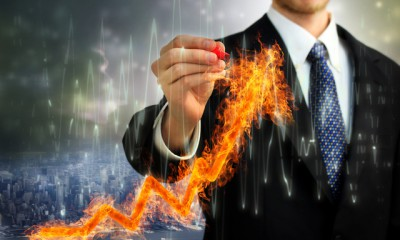 Businessman with Flaming Arrow